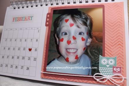 Karen Foster Desk Calendar enhanced with CTMH product