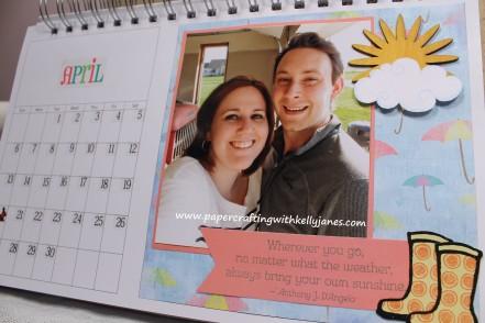 Karen Foster Desk Calendar enhanced with CTMH products