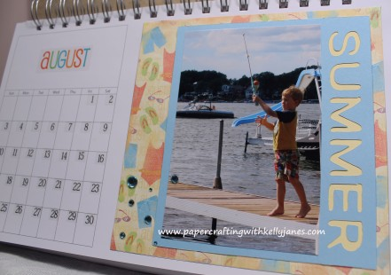 Karen Foster Calendar enhanced with CTMH products.