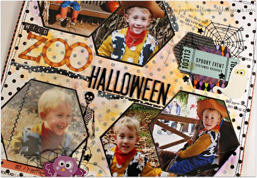 #halloween #scrapbook #mixedmedia