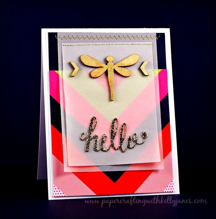 American Crafts, CTMH, Chevron, Gold Glitter