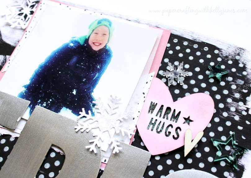 Mixed Media, The Cut Shoppe, Cut Files, Winter Layout