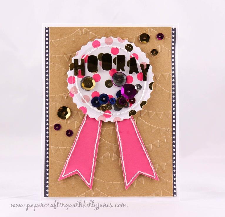 American Crafts, Dear Lizzy, Gold Foil, Minc Card
