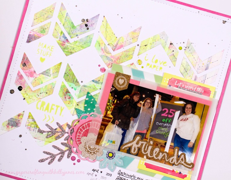 Kelly Janes: Friends Layout