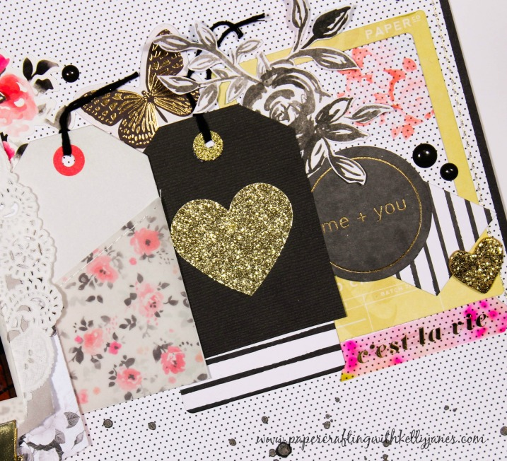 Ooh La La Scrapbooking Layout-Crate Paper, Pink Paislee, My Mind's Eye