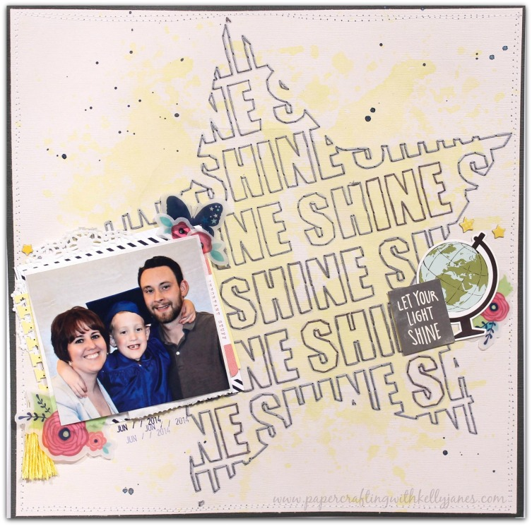 Big Picture Classes Inspiration, Hand Stitching, Shimelle-Star Shine, Crate Paper, Maggie Holmes Wonder Collection