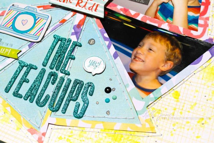 Scrapbook layout using cut file from Scrapbook Nerd designed by The Cut Shoppe