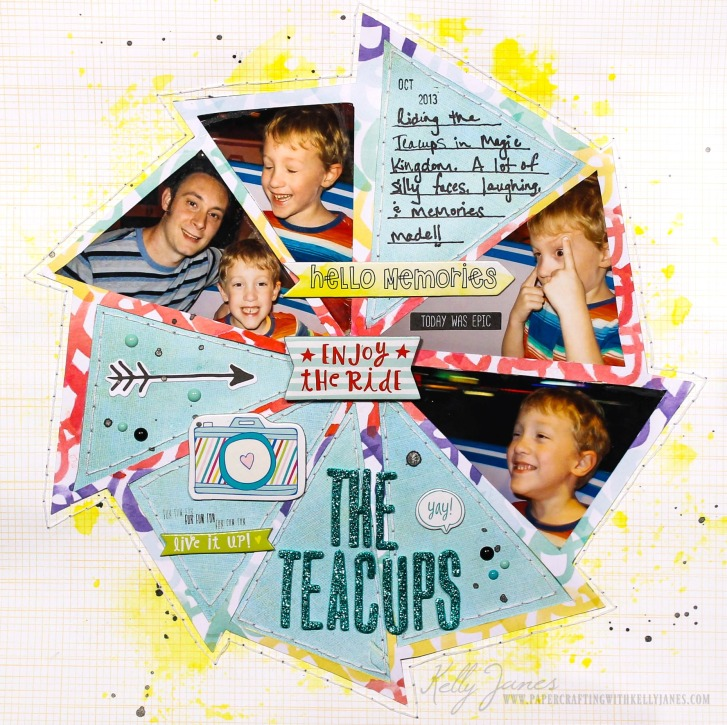 Scrapbook layout using cut file from Scrapbook Nerd designed by The Cut Shoppe