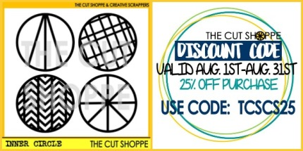 TCS August Discount and FREE cut file