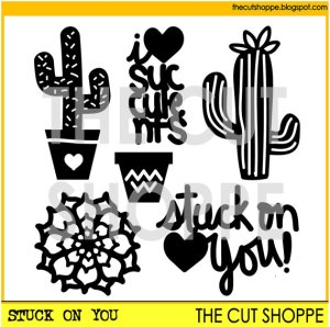 The Cut Shoppe: Stuck On You Cut File