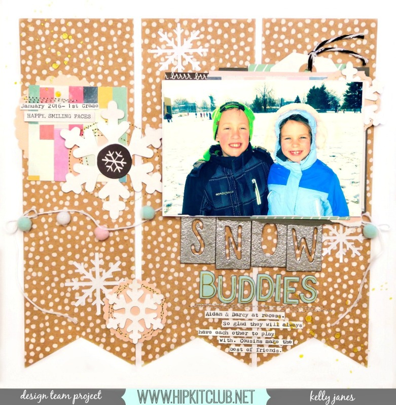 HKC Kelly Janes Design Team Layout | Hip Kit Club | 2016 November Kits & Document December Kit
