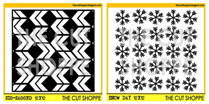 The Cut Shoppe | Snow Day Background Cut File & Zig-Zagged Background Cut File
