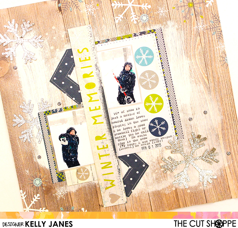 The Cut Shoppe | Snow Day and Zig-Zagged Background Cut Files | Simple Stories-Snow Fun