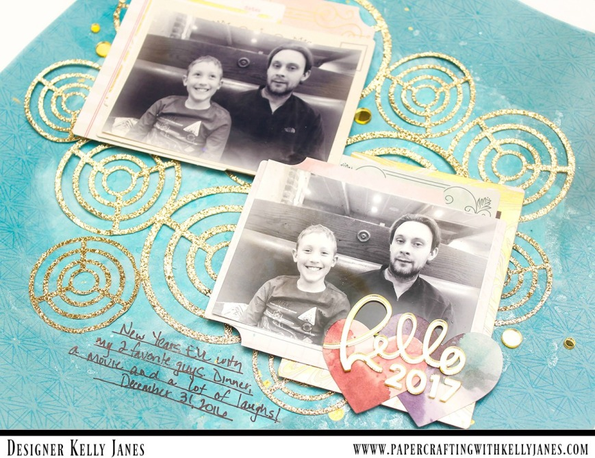 12x12 scrapbook layout using the Pink Paislee-Moonstruck Collection