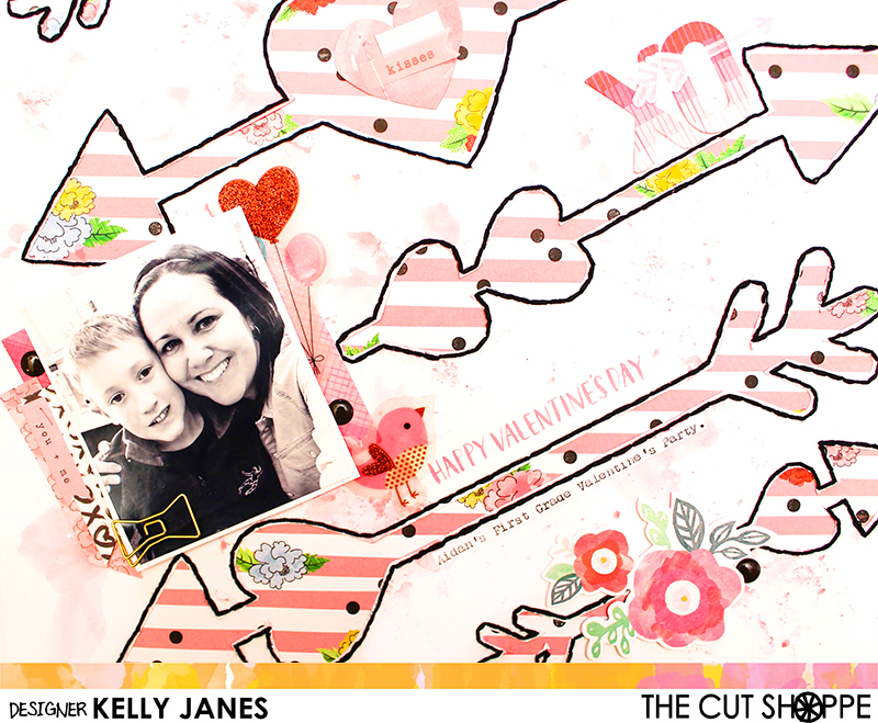 The Cut Shoppe | Cupid's Arrows | Shimelle-Little by Little, Crate Paper-Hello Love & Heart Day