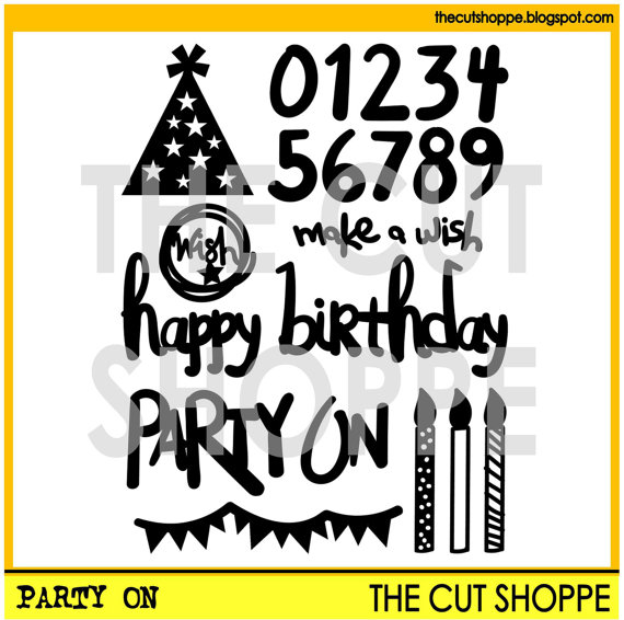 The Cut Shoppe | Party On Cut File