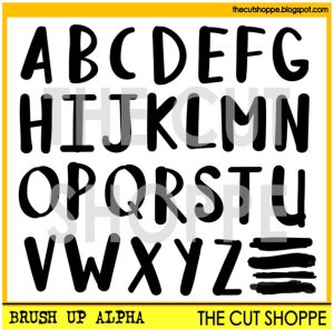 The Cut Shoppe | Brush Up Alpha Cut File