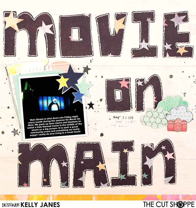 12x12 Design Team scrapbook layout for The Cut Shoppe using the Now I Know My ABC's Cut File along with Shimelle's Little By Little Collection