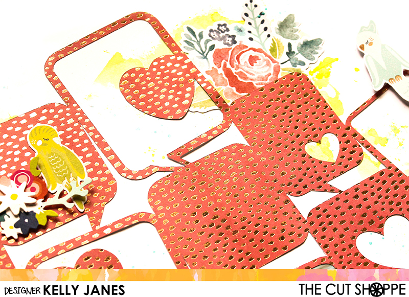 12x12 Design Team layout for The Cut Shoppe using the Hello, Let's Chat Cut File along with the Dear Lizzy Lovely Day Collection.