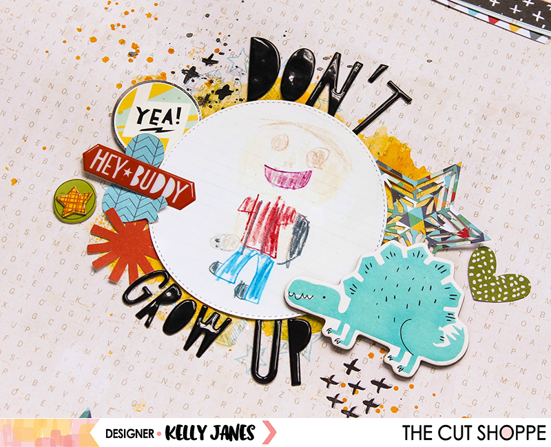The Cut Shoppe, Everyday Essentials, You've Been Punc'd, Crate Paper, Cool Kid, 12x12, Scrapbook, Layout