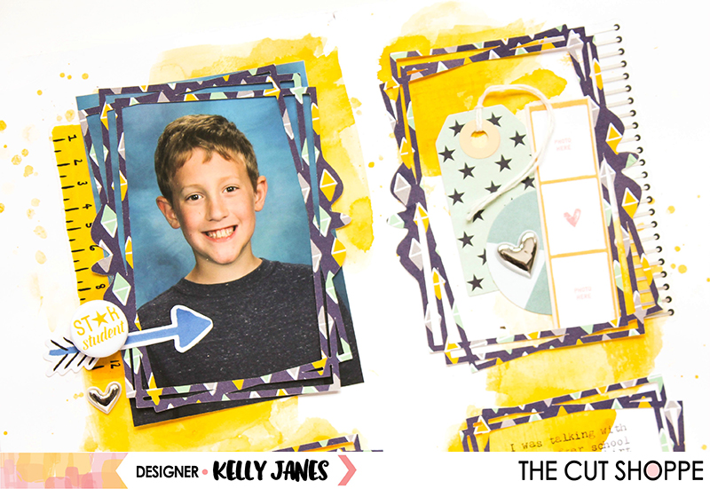 12x12 scrapbook layout for The Cut Shoppe using the Picture Perfect Cut File.