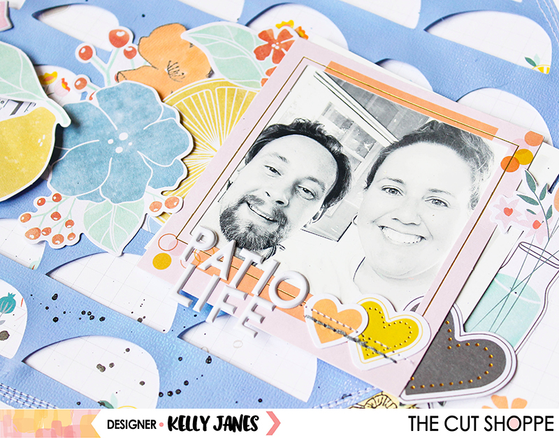 12x12 scrapbook layout for The Cut Shoppe using the Full Circle Cut File & the Pinkfresh Studio Simple & Sweet Collection.