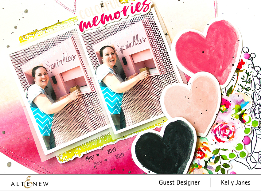 Altenew - Forever in Love Stamp- Kelly Janes