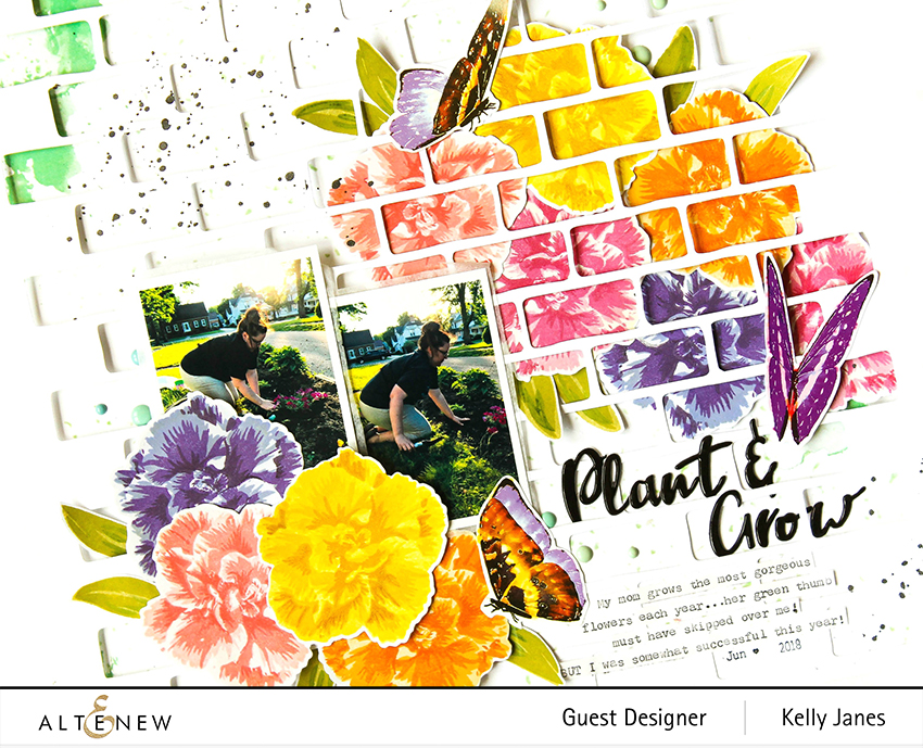 Altenew Camellia Japonica Build-A-Flower Stamp Set - Kelly Janes