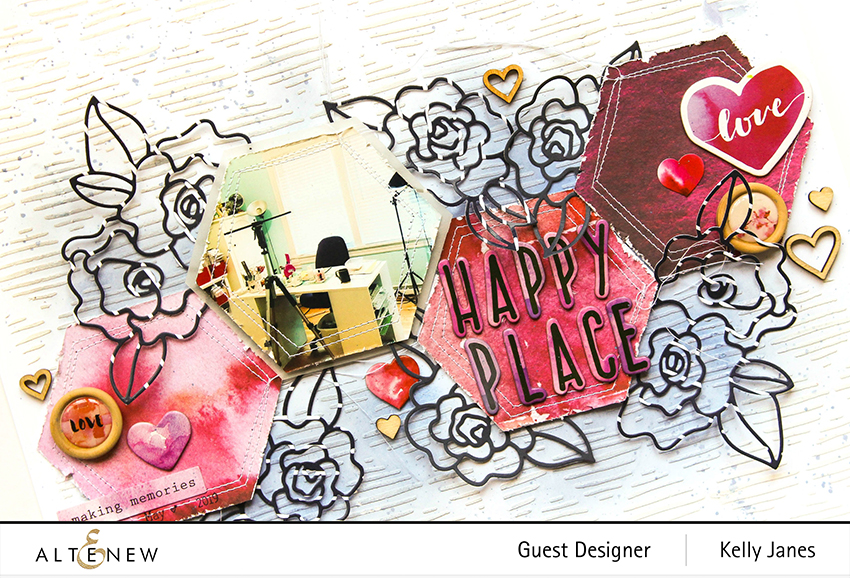 12x12 scrapbook layout using Altenew Wavy Outlines Die12x12 scrapbook layout using Altenew Wavy Outlines Die