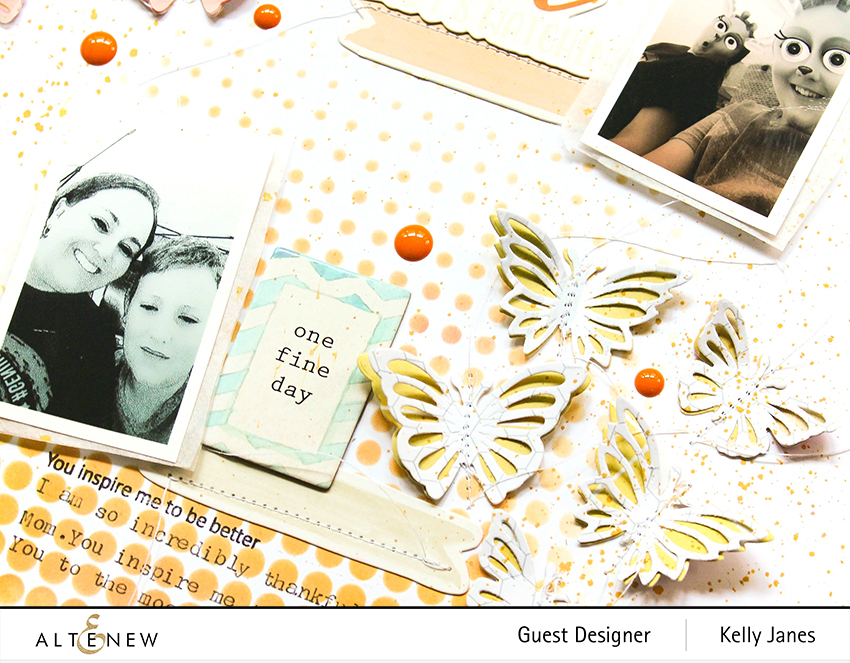 12x12 scrapbook layout using the Altenew Mix & Match Mariposa Die