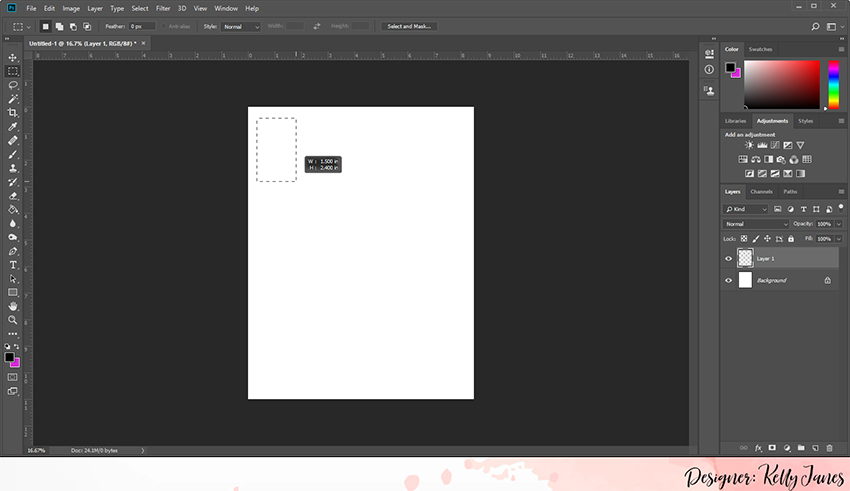 Customized Template in Photoshop to Resize Photos for the Classic Happy Planner.