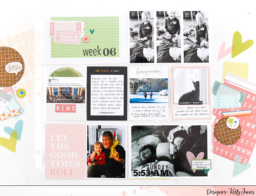 12x12 Project Life spread using the Studio Calico Documenter Kit.